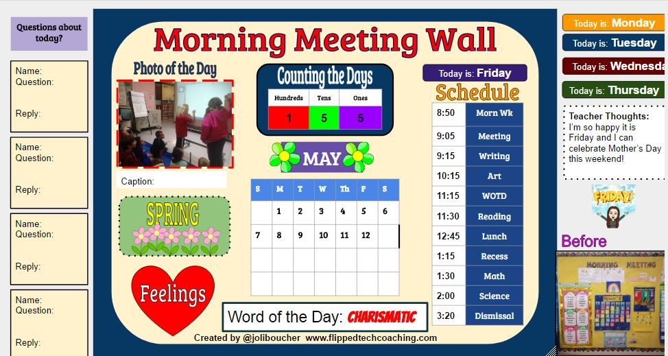 morning meeting wall